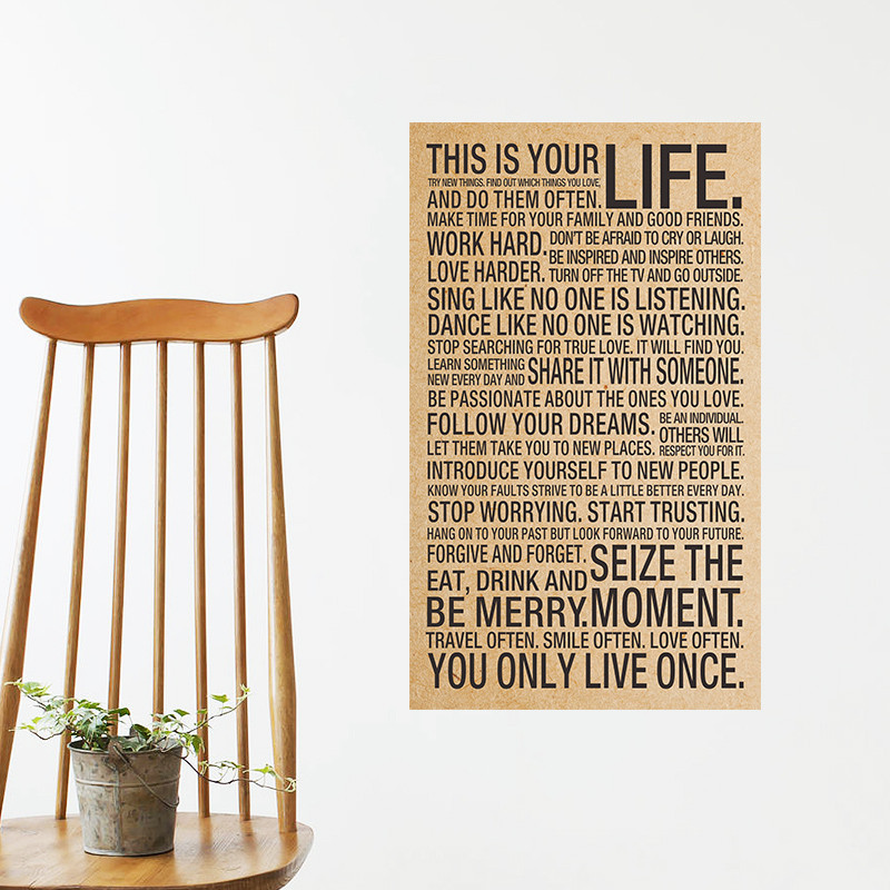 This Is Your Life Quote Fair World Popular Quote This Is Your Life Vintage Poster Painting