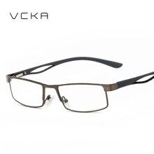 VCKA Металла полный кадр мужчины Квадратные очки для чтения пресбиопия старый удобные грау gafas де lectura лупа Дальнозоркостью Очки