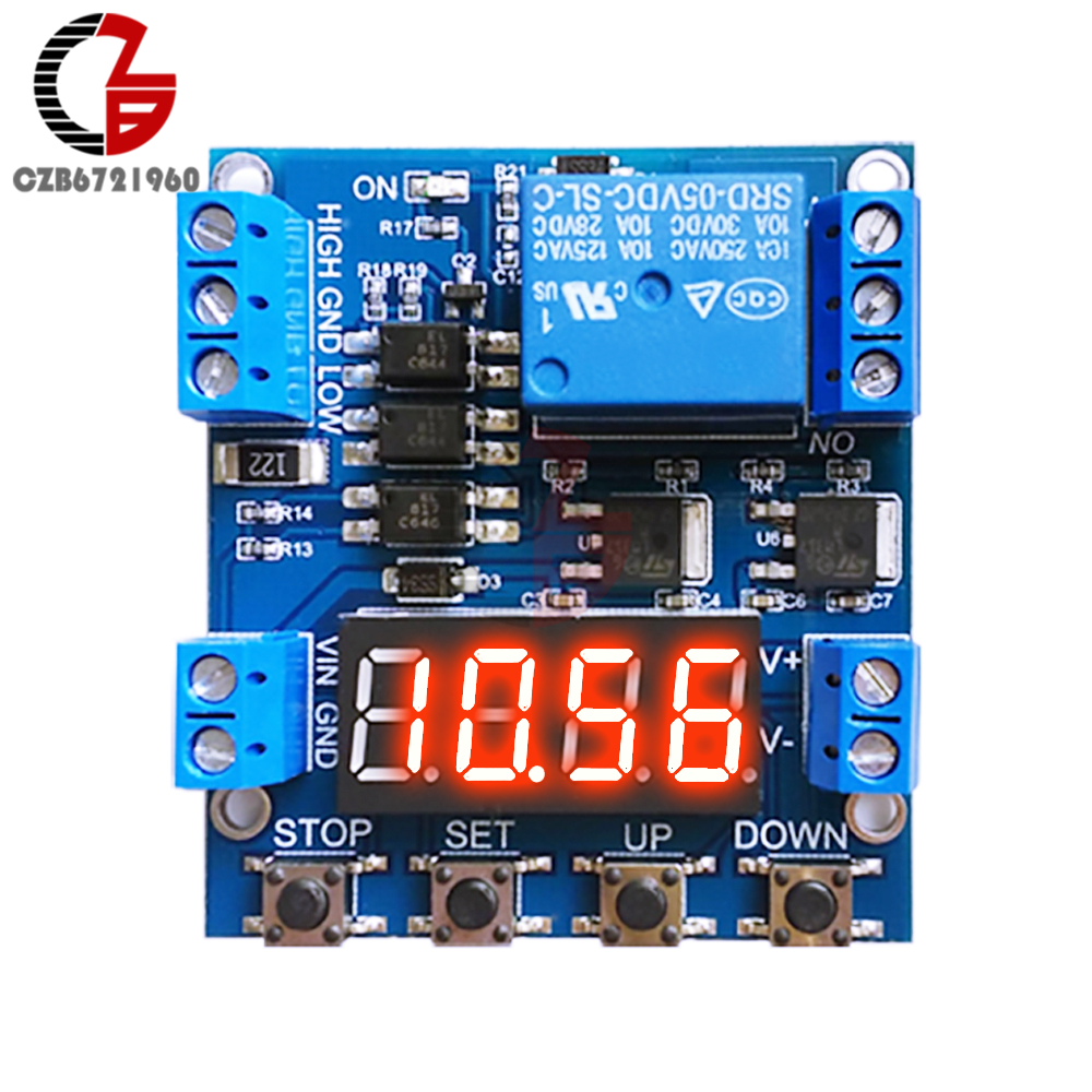 цена на DC 12V High Low Trigger Time Delay Relay Module Timing Relay Voltage Detection Circuit 1 Channel Timer Control Switch 6-30V