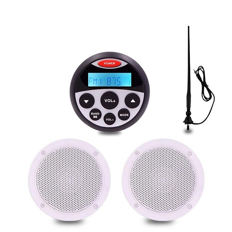Guzare Marine stéréo étanche Bluetooth Audio Radio FM lecteur MP3 antenne de voiture 4