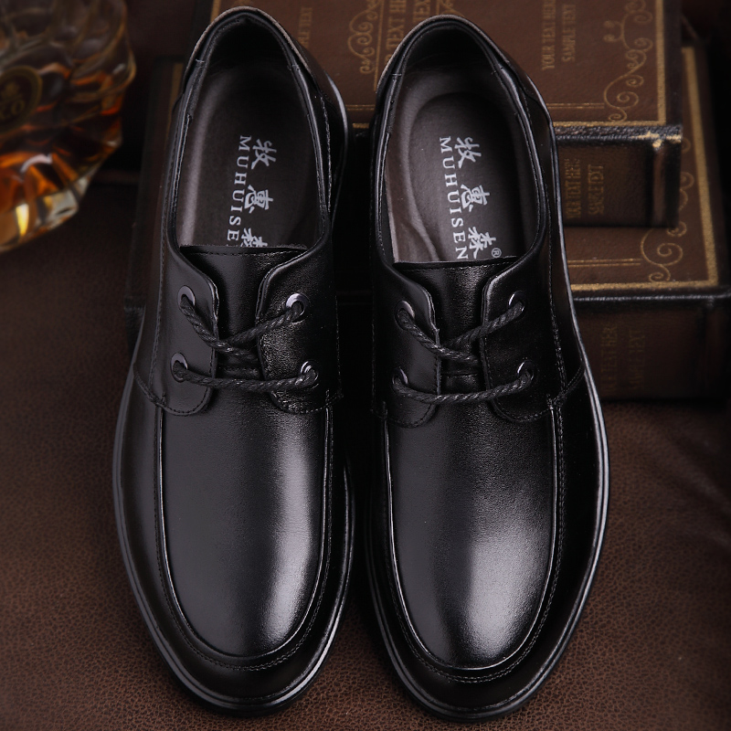 Muhuisen Occasionnels Appartements Black De Qualité Oxford 44 Business Cuir Dentelle Véritable Chaussures Confortable Printemps Mâle up Haute brown 38 Hommes Automne XHWwqBzXrZ