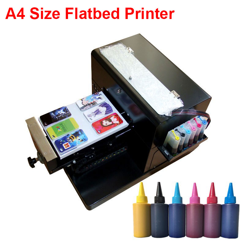 цены на 2017 New Small Flatbed Phone Case Printer for TPU iphone Case Pen High Quality A4 Size Flatbed Printer Machine Model