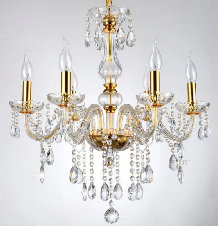 Free Shipping 6 Arms Modern Crystal Chandelier Lustre Light , with 100% K9 Crystal Pendants  Free Shipping 6 Arms Modern Crystal Chandelier Lustre Light , with 100% K9 Crystal Pendants