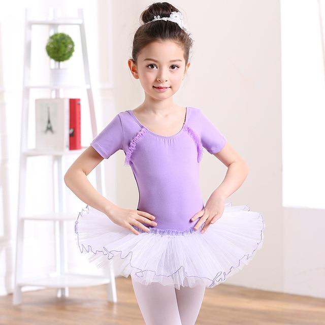 951059694463 Short Sleeved Girls Ballet Tutu Dress Leotards Skirt Fluffy ...