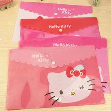 a116f644337 1 Pcs kawaii A4 Kitty Cat Waterproof PVC Cartoon Document Bag A4 File Folder  Stationery Filing Production Office School Supplies