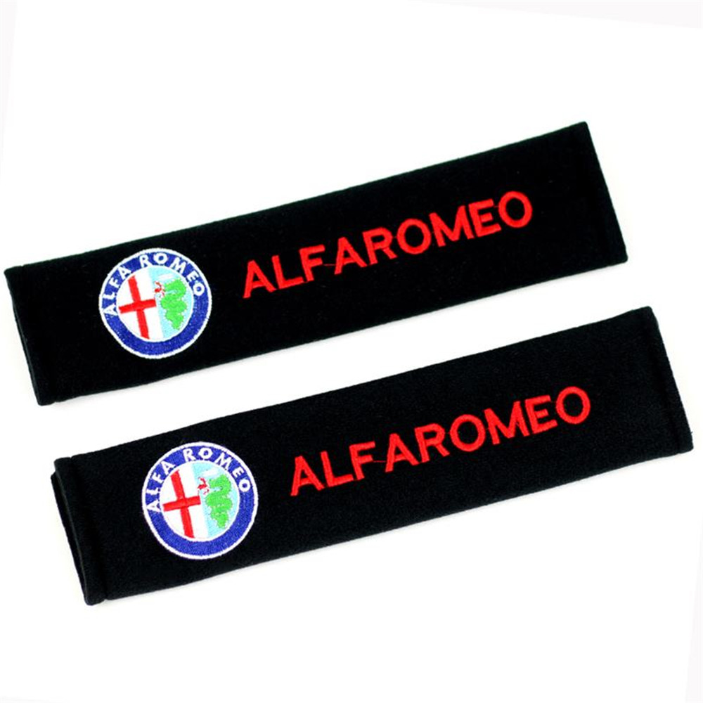 2PCs/Set Alfa Romeo Car Seat Belt Shoulder Strap Covers Universal Car Seat Belt Shoulder ...