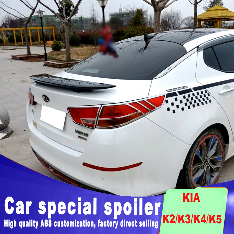 K2 K3 K4 K5 Universal big rear trunk roof wing rear spoiler for KIA K2 K3 K4 K5 Optima high quality ABS primer or DIY color 2pcs car trunk lid lifting device spring for corolla mistra teana for kia k2 k3 k5 for cruze for accord city cerato for sonata
