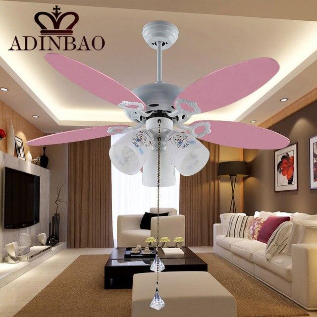 mignon rose ventilateur de plafond lampe pour chambre denfant 051 42 pouce - Ventilateur De Plafond Pour Chambre
