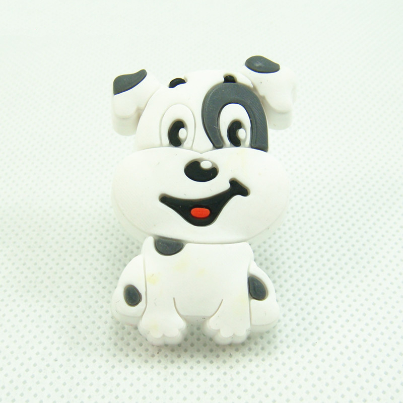10pcs cute soft gum cartoon dog bedroom furniture kitchen cabinet knobs kids dresser drawer pulls closet bedroom furniture drawer handles