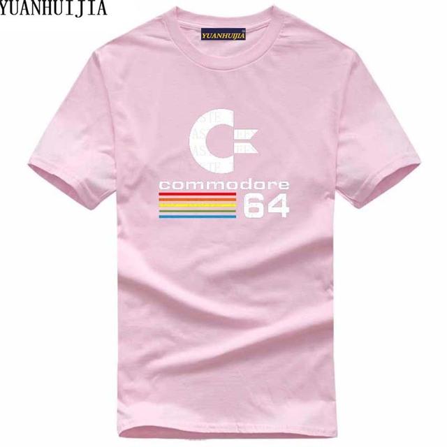 Summer Commodore 64 T Shirts C64 SID Amiga Retro 8-bit Ultra Cool Design Vinyl T-shirt Mens Clothing With Short Sleeve