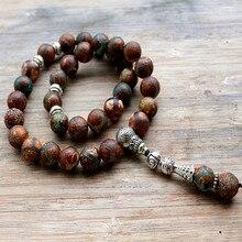 Handcrafted Islamico di Preghiera Perline (33 Perline) 10 MILLIMETRI di Pietra Musulmano Tasbih Allah Mohammed Rosario per le donne degli uomini