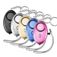 Portable Self Defense Alarm 130DB Emergency Protection Personal Security Alarm KeyChain with Led Light for Woman Kids Elderly