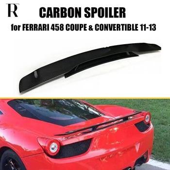 Carbon Fiber Kofferbak Spoiler voor Ferrari 458 458 Italia Base 2-Deur Coupe & Cabrio 2011- 2013