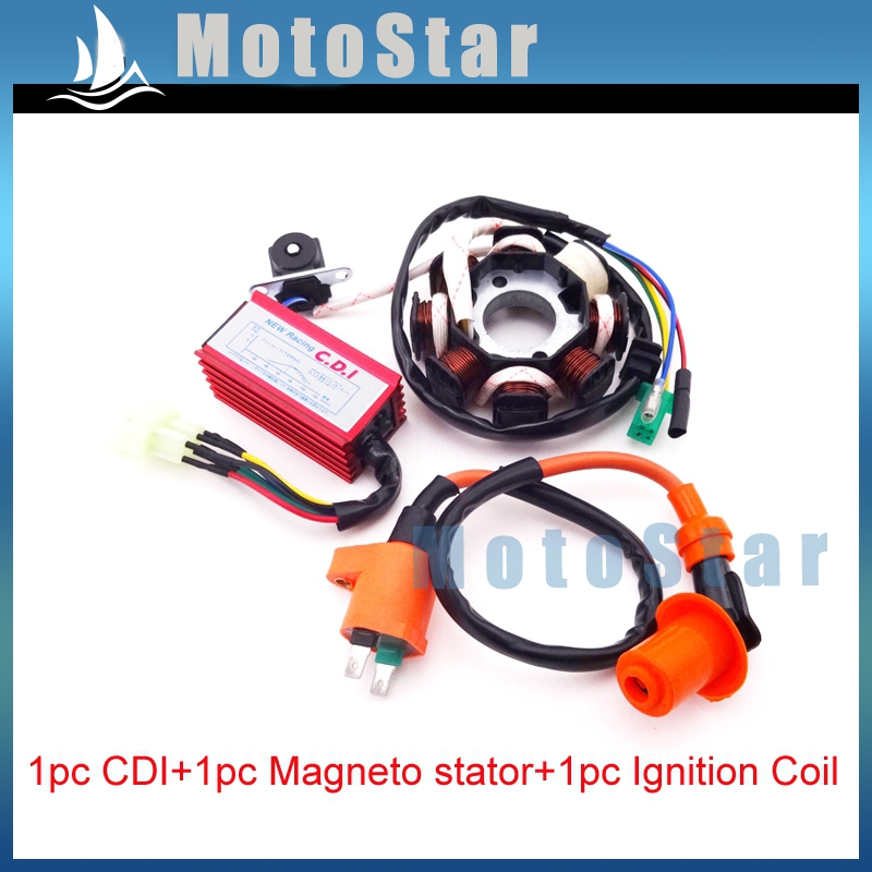 online get cheap 8 pin cdi aliexpress com alibaba group magneto stator 8 poles ignition coil 6 pins wires ac cdi box for chinese gy6 125cc