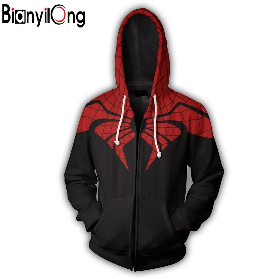 2019 New Hoodie Men Or Women Cool The Superior Spider-man Zip Up Hoodie 3D Printed Fashion Hot Autumn Winter Clothing