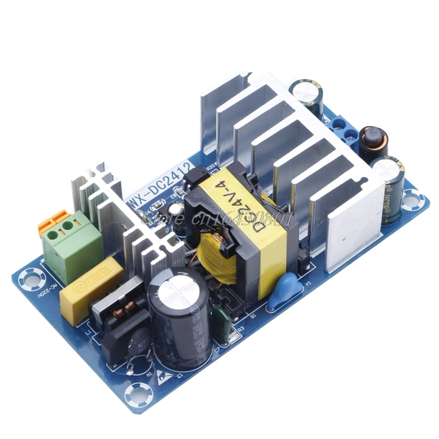 Power Supply Module AC 110v 220v to DC 24V 6A AC-DC Switching Power Supply Board S08 Drop ship
