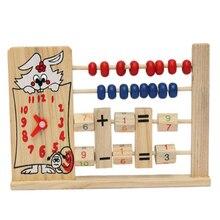 Деревянный 2-х Рядный Abacus Подсчет 8 Бусин В-ряд Математика Обучение Обучающие Детские Игрушки Забавный Интеллектуальной Детей Подарок