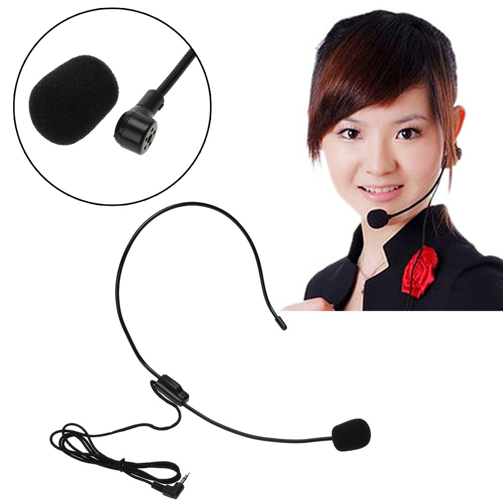 Microphone Smartphone Audio Device Lightweight Wired 3.5mm Microphone Headset for Class Presentation Amplifier Speaker