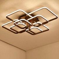Novo acrílico moderno led luzes do candelabro para sala de estar quarto quadrado interior branco avize lustres lâmpada luminárias|led chandelier light|chandelier lighting|modern led chandelier -