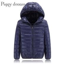Высококачественная зимняя куртка 2020, пуховик для мальчиков, детское светильник пальто на утином пуху с капюшоном для девочек, тонкая модель 10, 12, 14, 16 лет