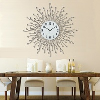 Modern And Simple European Style Garden Living Room Wall Clock Iron Quartz Clock Creative Art Clock