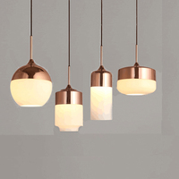 Modern Tom DIXON Melt Pendant Lights Glass Lava Irregular Silver Gold Copper Mirror Hang Lamp for Living Room Lighting