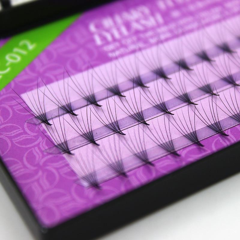 60 demetleri 6d kirpik uzantıları 0.07mm kalınlığı gerçek vizon şerit kirpikler bireysel kirpik doğal tarzı