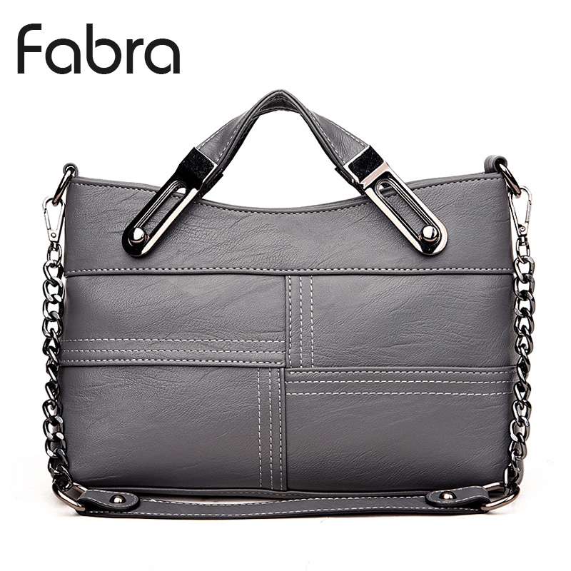 Fabra Autumn Women Handbag Bag Brand Women Messenger Bag Chains PU Leather Women Shoulder Bag Vintage Small Flap Bag Grey Bolsas fabra women cute cartoon pu leather
