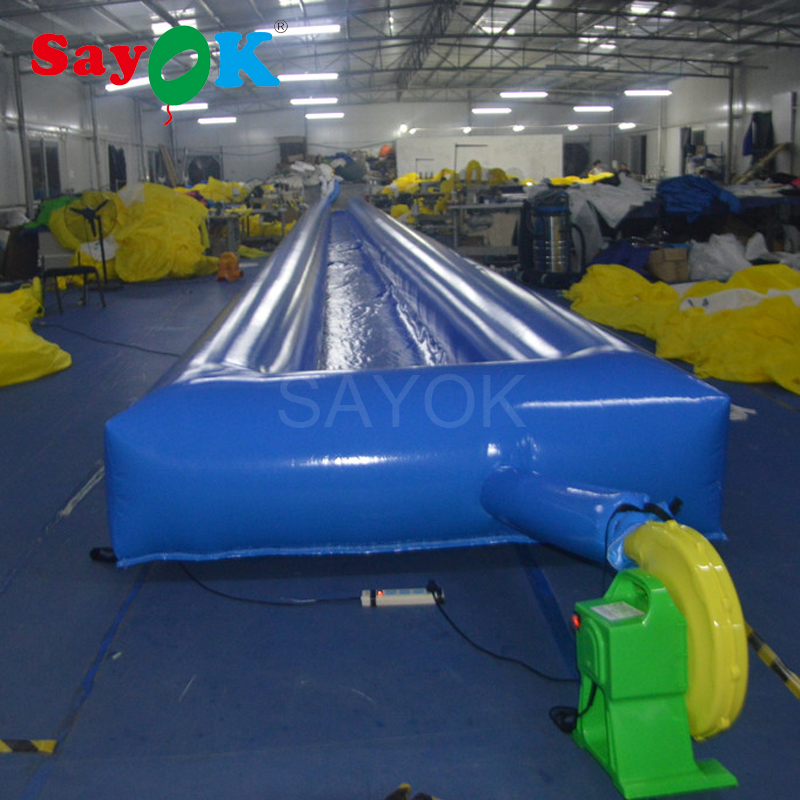 30x2x0.6m Large Inflatable flat Water slide, game park Inflatable water slide way sale funny inflatable slide water slide for sale