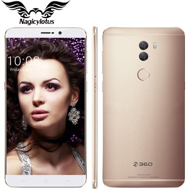 "Original 360 q5 plus 6.0 ""4G LTE Snapdragon 820 Quad Core 2.15 GHz 4 GB RAM 128 GB ROM Android 6.0 13MP Móvil de Huellas Digitales teléfono"