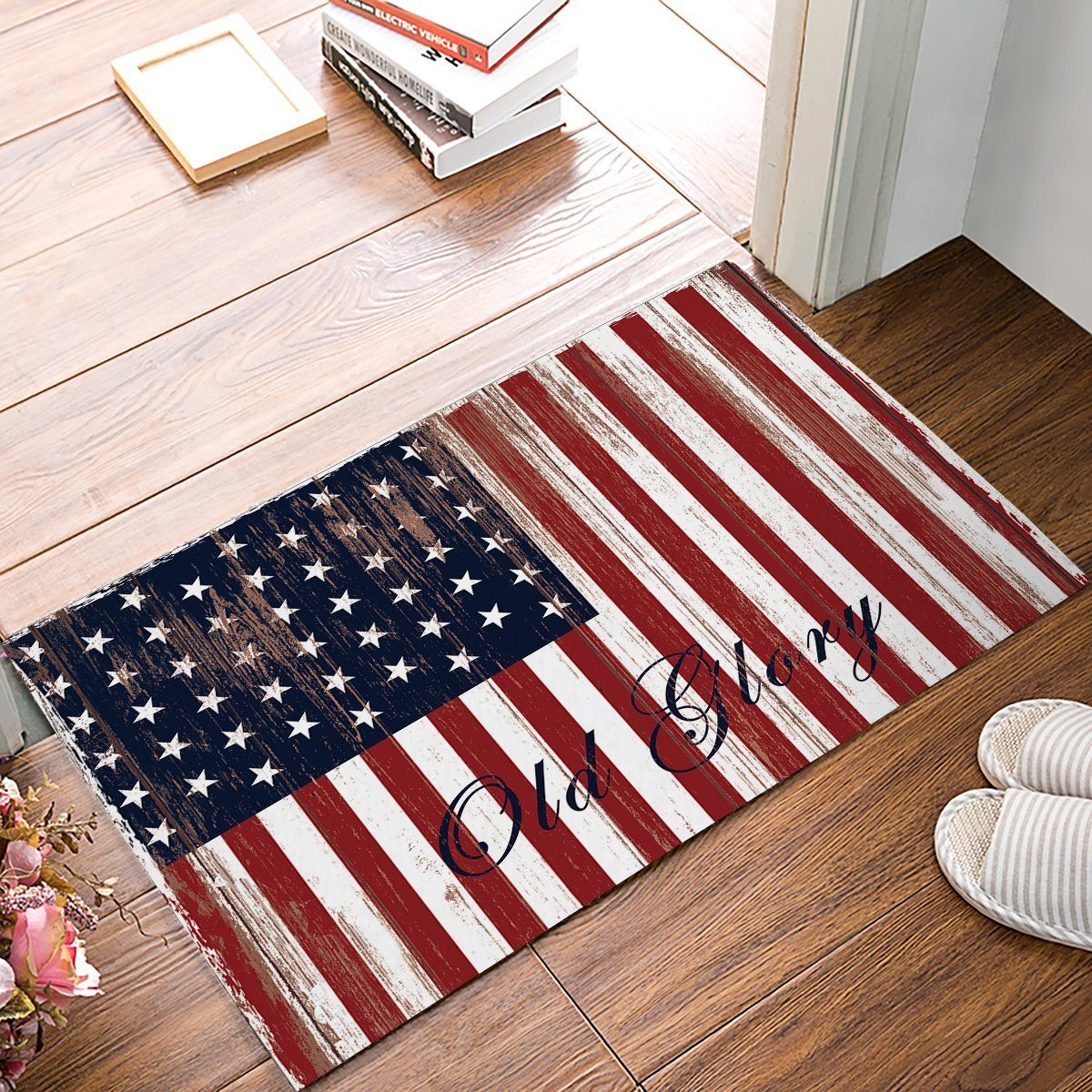 Retro Vintage American Flag Old Glory Door Mats Indoor