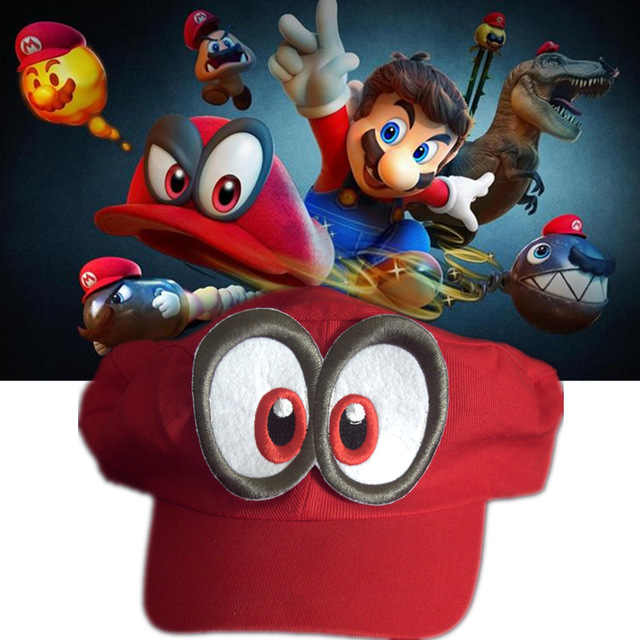 b221bd9e6a5 Game Super Mario Odyssey Hat Adult Kids Cosplay Hats Cap Handmade Red  Odyssey Mario Cosplay Cap