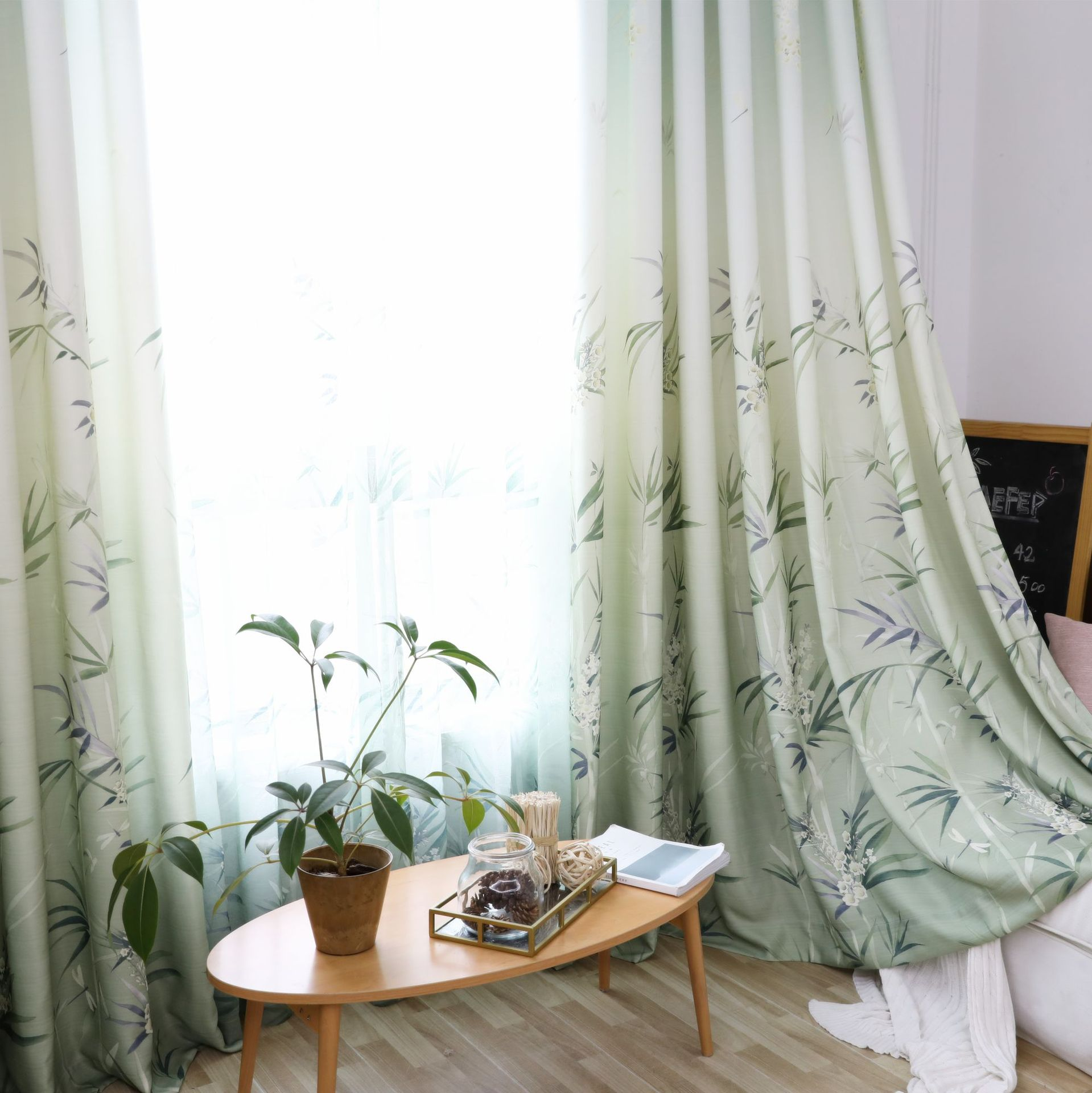 Nordic Small Fresh Home Design 4: 2018 New Curtains For Living Room Bedroom Nordic Style