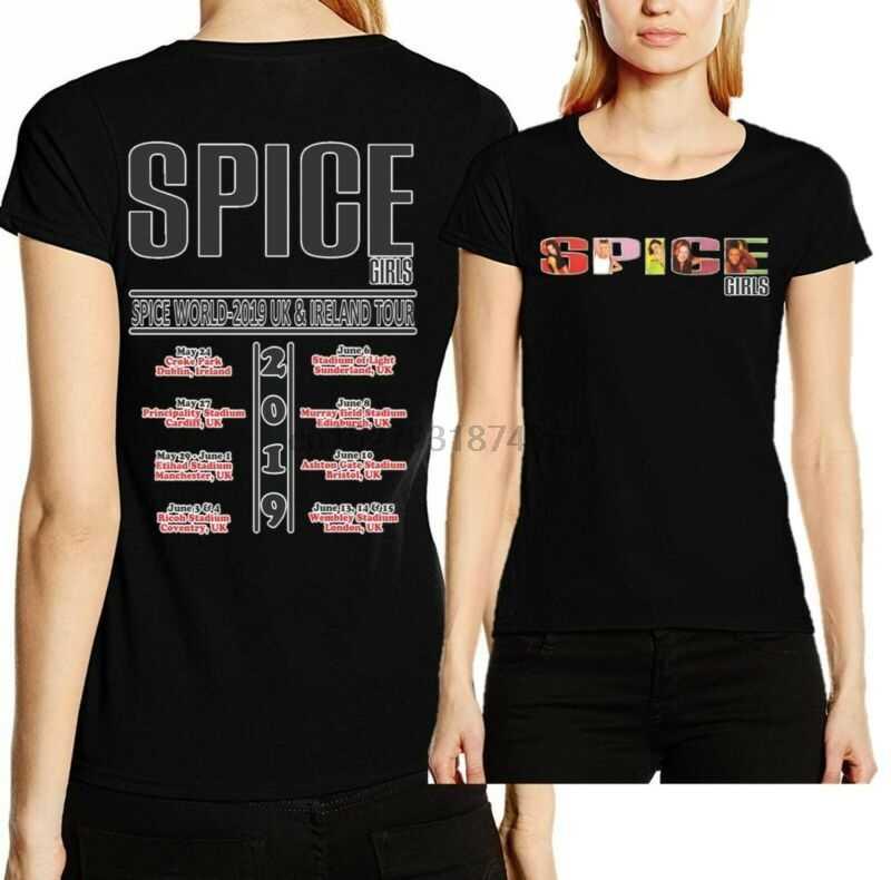 fe2194a99 Spice Girls Spice World UK & Ireland Tour 2019 Pop Band Tee T-Shirt Top