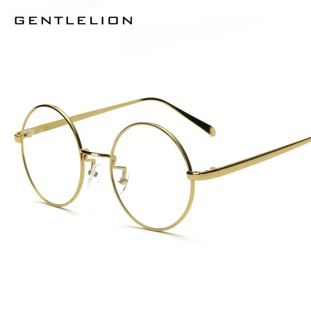 c4a71d0590 Oversized Round Glasses Frame Clear Lens Women Men Retro Eyeglasses Optical  Frame Eyewear Vintage Lazy eye glasses 2805