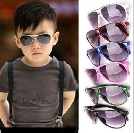 Varejo de moda de nova fresco óculos de sol crianças meninos meninas crianças óculos de sol óculos de óculos de plástico