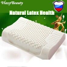 HazyBeauty oreiller en Latex naturel respirant, lit orthopédique, literie cervicale, particules de Massage, importé de thaïlande