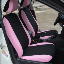 Polyester Fabric Universal Car Seat Covers for Women Full Set Pink Butterfly Embroidery Fit Most Seats Styling New