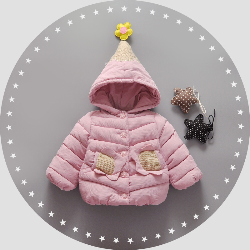 BMLSGKW Girl Winter Hooded Jackets 2017 Flower Pattern Warm Down Coat Outerwear Toddler Baby Clothing Infant Clothes 1-4Y winter baby girl coat thick warm cotton real fur newborn baby boys girls jacket infant toddler hooded outerwear clothing 1 4y