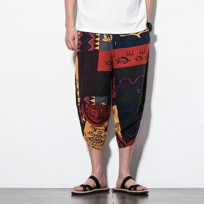 Полосатые спортивные штаны с трафаретным принтом, уличные мужские спортивные штаны с эластичной талией, спортивные штаны для бега - Цвет: color16