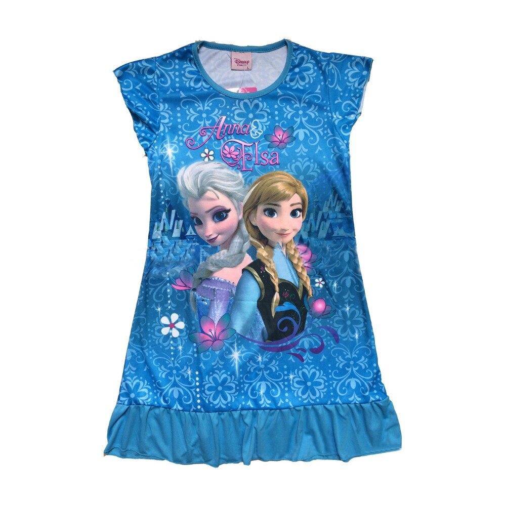 fashion Girls Frozen Nightgowns Elsa & Anna Princess Frozen princess ...