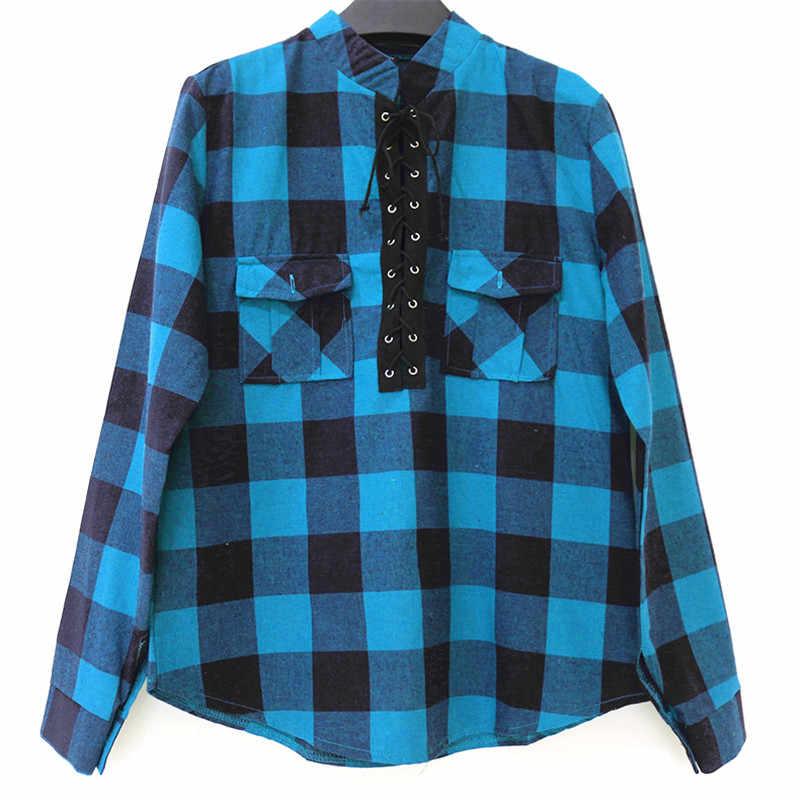 23b24c41397b7d6 Женская клетчатая рубашка 2019 Весна с длинным рукавом блузки рубашка  Офисная Женская хлопковая кружевная рубашка туника