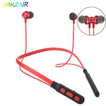 цена на M8 Wireless Headphone Sport Bluetooth Earphone Neckband Magnetic Bass Headset Handfree Earbuds with Mic for Xiaomi Huawei Iphone