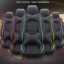 Front+afte Leather car seat cover for mitsubishi pajero 4 sport outlander 3 xl lancer 9 10 grandis ASX colt l200 accessories car seat cover covers for mitsubishi pajero 2 3 4 full sport carisma montero sport outlander 3 xl 2013 2012 2011 2010