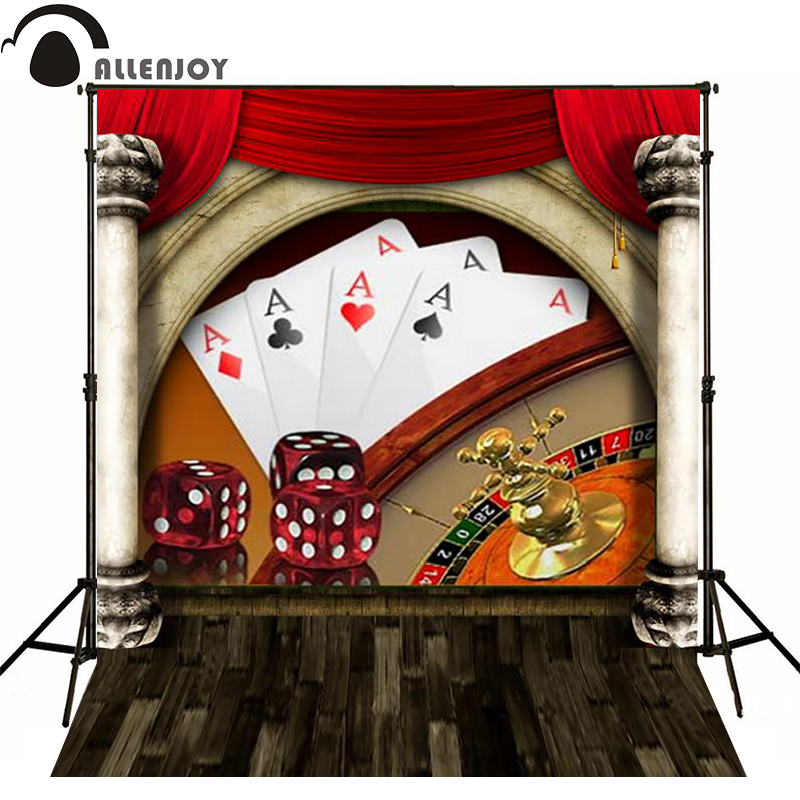 Allenjoy photographic background Poker Dice casino plank curtain photo backdrops fabric vinyl Computer printing allenjoy photography backdrops floor mosaic school blackboard kids vinyl photocall photographic studio computer printing lovely