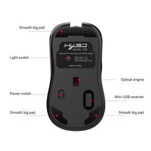 Image 3 - HXSJ nuovo wireless di ricarica del mouse 7 luce di colore 3600DPI gaming mouse senza fili del mouse USB di sostegno e di Tipo c interfaccia nero muto Mouse