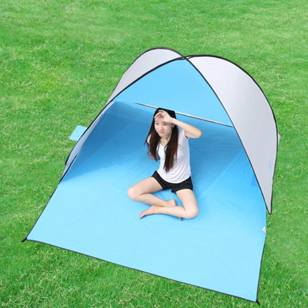 Keumer pop-up открытым пляж палатка Палатки (120 + 60) * 150*100 см Открытый Автоматический мгновенный Anti UV Солнечные укрытия Кемпинг Рыбалка
