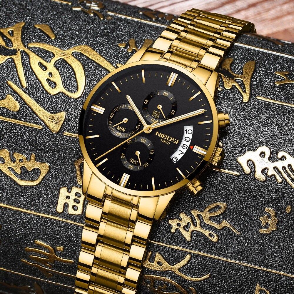 NIBOSI Man Watch 2018 Relogio Masculino Men Watch Luxury Famous Top Brand Sport Watch Military Quartz Men Wristwatch Clock Saat nibosi men chronograph watches top luxury brand men military sport wristwatch quartz watch relogio masculino clock montre homme