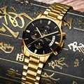 Relogio Masculino hommes montre de luxe célèbre haut hommes robe montre militaire Quartz montres Saat métal & cuir & Milanes bande