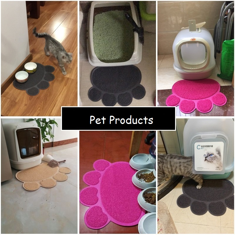 1pcs Non-slip Pet Dog Cat Bowl Mat Puppy Cleaning Feeding Dish Bowl Table Wipe Easy Cleaning Waterproof Eat Mats Home & Garden Dog Feeding